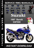 Thumbnail 1997 Suzuki Bandit GSF600 Service Repair Manual Download