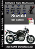 Thumbnail 1997 Suzuki GS500E Service Repair Manual Download