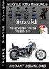 Thumbnail 1992 Suzuki VS700 VS750 VS800 S50 Service Repair Manual Down