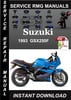 Thumbnail 1993 Suzuki GSX250F Service Repair Manual Download