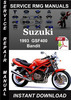 Thumbnail 1993 Suzuki GSF400 Bandit Service Repair Manual Download