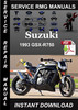 Thumbnail 1993  Suzuki GSX-R750 Service Repair Manual Download
