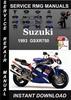 Thumbnail 1993 Suzuki GSXR750 Service Repair Manual Download