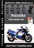 Thumbnail 1993 Suzuki GSXR1100 Service Repair Manual Download