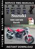 Thumbnail 1995 Suzuki Bandit GSF400 Service Repair Manual Download