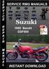 Thumbnail 1995 Suzuki Bandit GSF600 Service Repair Manual Download