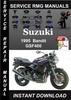 Thumbnail 1995 Suzuki GSF400 Bandit Service Repair Manual Download