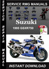 Thumbnail 1995 Suzuki GSXR750 Service Repair Manual Download