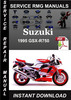 Thumbnail 1995 Suzuki GSX-R750 Service Repair Manual Download