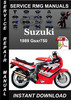 Thumbnail 1989 Suzuki Gsxr750 Service Repair Manual Download