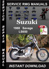 Thumbnail 1988 Suzuki Savage LS650 Service Repair Manual Download