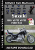 Thumbnail 1989 Suzuki VS700 VS750 VS800 S50 Service Repair Manual Down