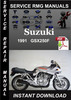 Thumbnail 1991 Suzuki GSX250F Service Repair Manual Download