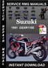 1991 Suzuki GSXR1100 Service Repair Manual Download
