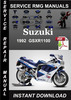 1992 Suzuki GSXR1100 Service Repair Manual Download
