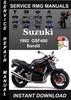 Thumbnail 1992 Suzuki GSF400 Bandit Service Repair Manual Download