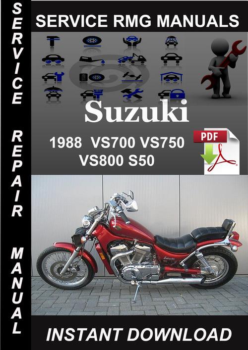 Product picture 1988 Suzuki VS700 VS750 VS800 S50 Service Repair Manual Down