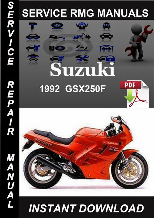 Product picture 1992 Suzuki GSX250F Service Repair Manual Download