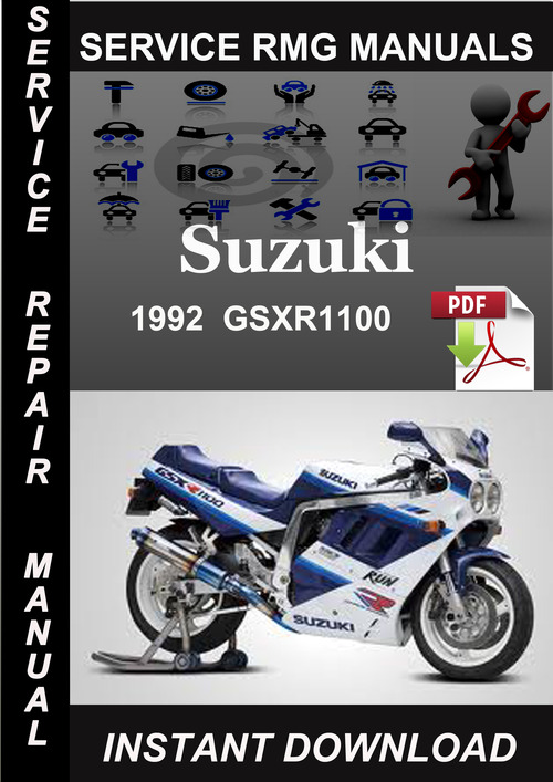Product picture 1992 Suzuki GSXR1100 Service Repair Manual Download