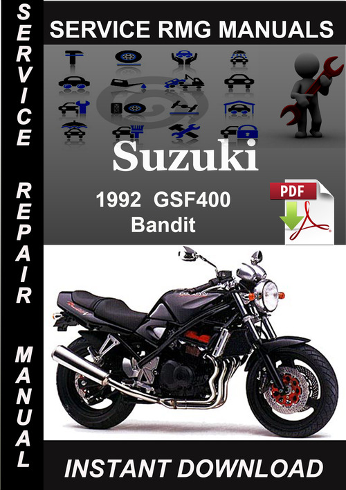Product picture 1992 Suzuki GSF400 Bandit Service Repair Manual Download